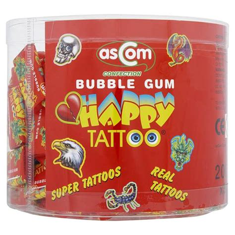 gum tattoo happy gum retro bubblegums