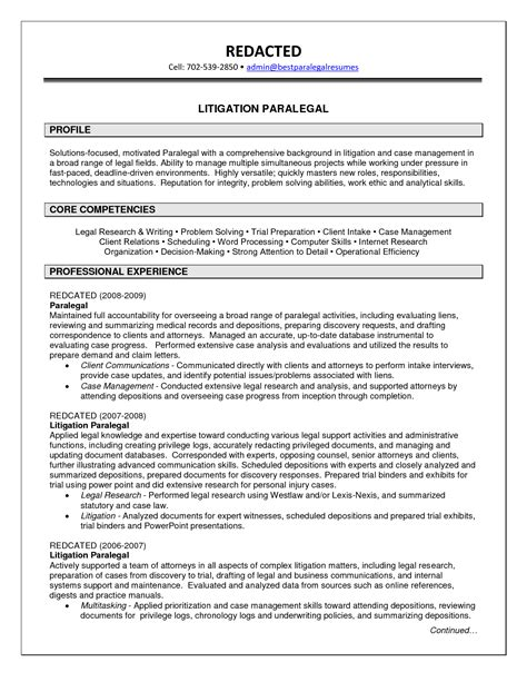 entry level paralegal resume by henrietta stein writing resume