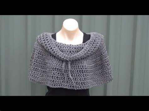 youtube crochet poncho cowl neck poncho crochet tutorial youtube