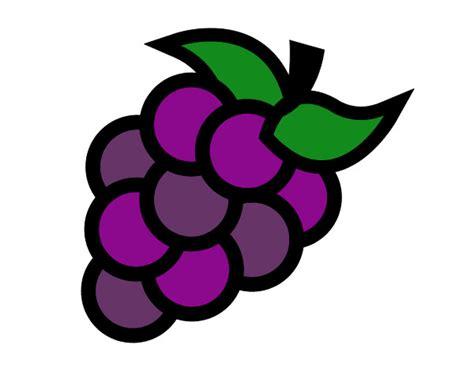 imagenes color uva dibujo de uvas verdes pintado por claudibe en dibujos net