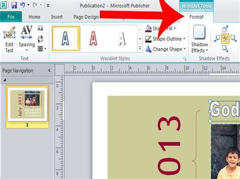 Design Calendar Microsoft Publisher   3 ways to design a calendar in microsoft publisher wikihow
