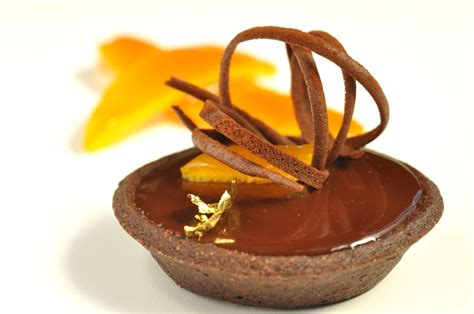 chocolate orange orange chocolate tart pastry chef author eddy van damme