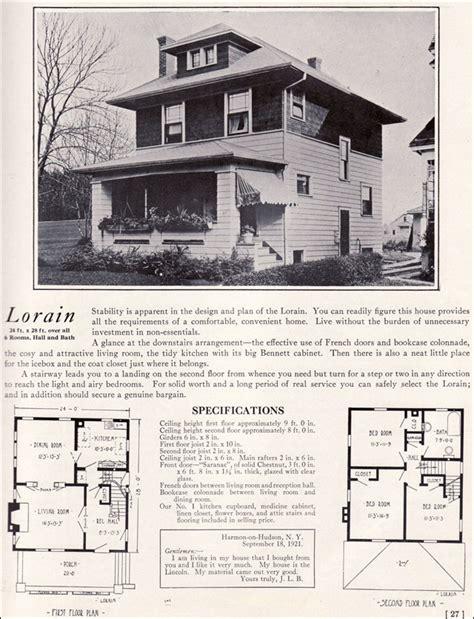 Center Hall Colonial Floor Plans Foursquare Prairie Box 1922 Lorain By Bennett Homes