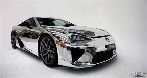 lexus chrome lexus lfa chrome wrapped mydrive