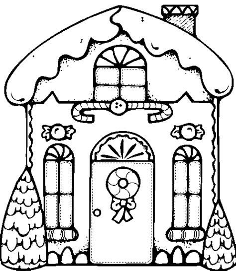 Gingerbread House Black And White Clip Art Imgkid