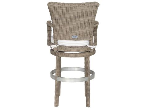outdoor wicker bar stool patio heaven palisades wicker swivel bar stool wp rbsbh gsr