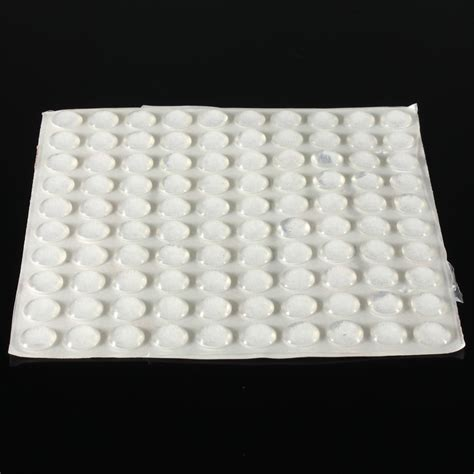 100PCS Self Adhesive Rubber Feet Clear Semicircle Bumpers