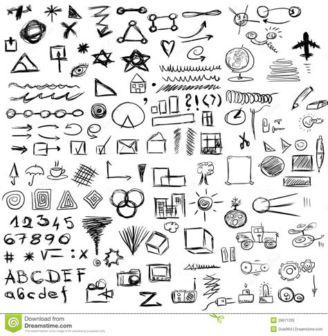 doodle business free doodle abstract business icons royalty free stock photo
