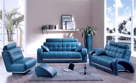 Blue Leather Living Room Set blue couches decor for living room