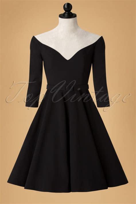 fifties swing dress 50s rachel doll swing dress in black