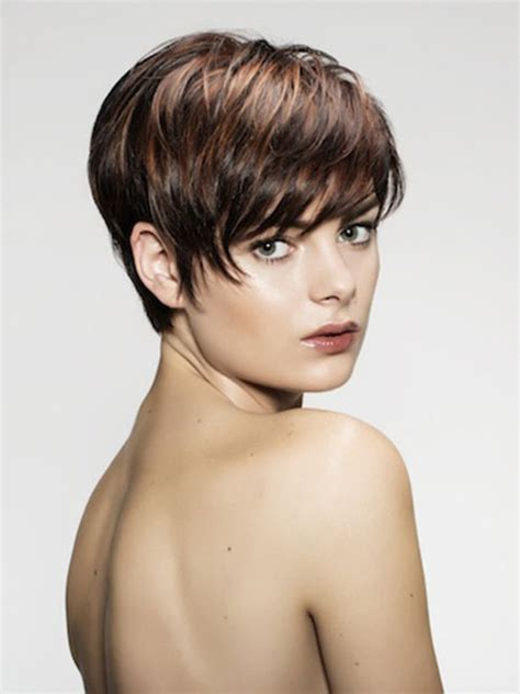 best highlights for pixie dark brown hair 24 fun sexy short brown hairstyles styles weekly