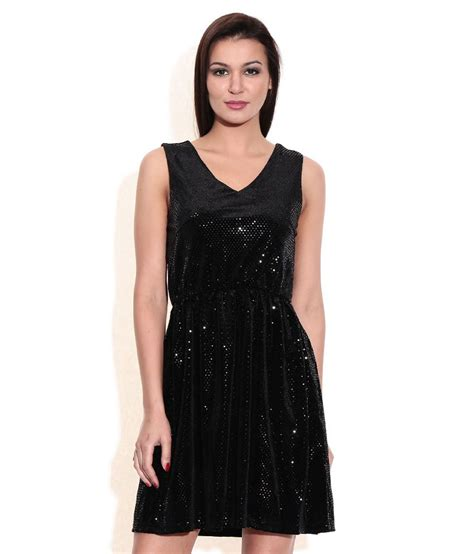 Moda Black buy vero moda black sequinned shift dress at best prices in india snapdeal