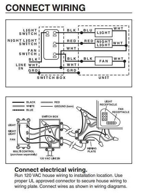 nutone bathroom fan wiring diagram get free image about