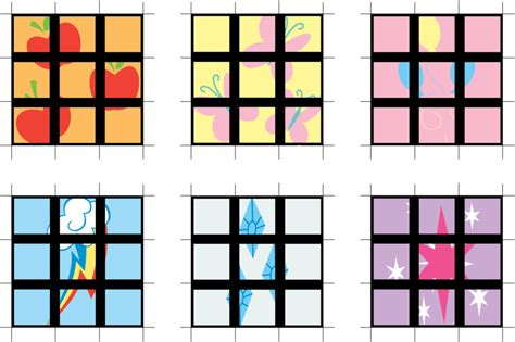 printable rubik s stickers ponycube template by quinnjaminn on deviantart