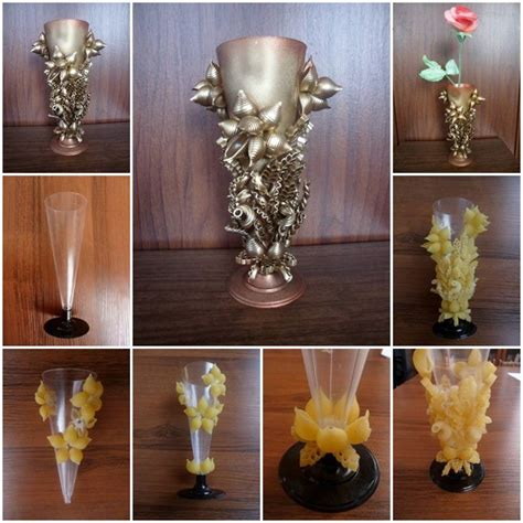 how to make home decor how to make pasta decorated vase step by step diy tutorial