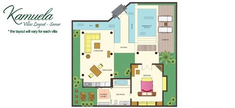 4 Bedroom Floor Plan kamuela villas and suite sanur one bedroom villa
