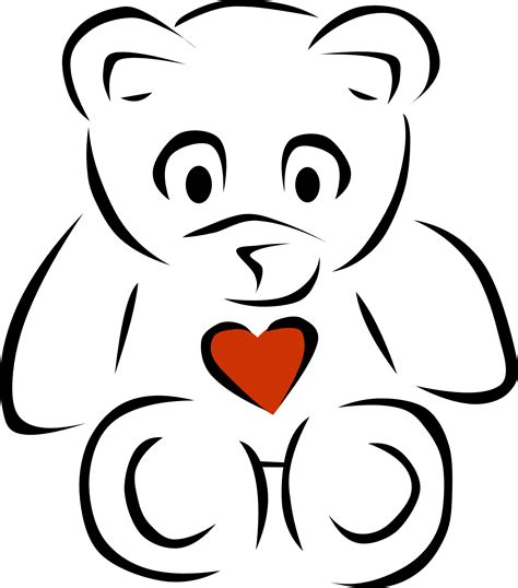 teddy bear christmas cookie besides tattoo drawing designs as well free black and white heart images download free clip art