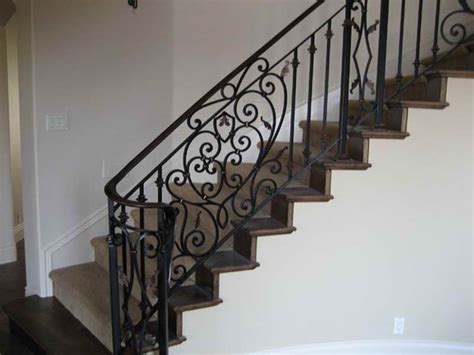 iron stair railing indoor luxurious iron stair railings design wood balusters guess thrift stores also indoors