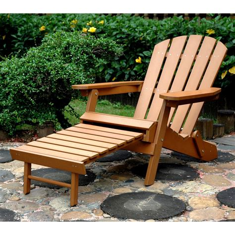 folding adirondack chair with ottoman merry products plastic wood folding adirondack chair with