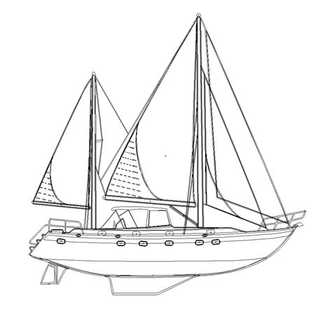 boat hull outline free vector file sailboat outline the creative