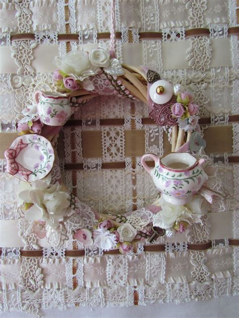 shabby chic tea shabby chic 176 164 175 180 175 164 176 shabby chic tea time wreath