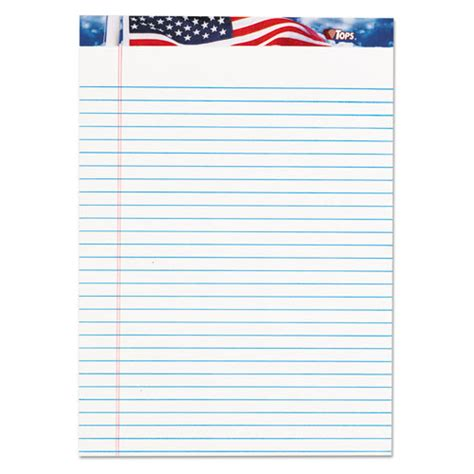 american writing paper american pride writing pad wide 8 1 2 x 11 3 4