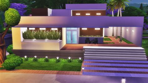 casa base jogo base casa moderna t 201 rrea the sims 4 speed build