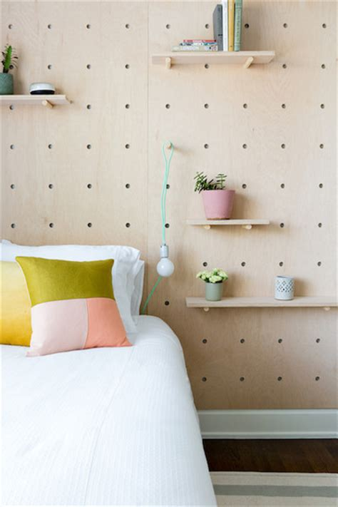 Headboard Alternatives Diy by Pegboard Wall Headboard Alternative Wall Headboard And