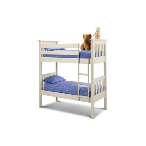 Julian Bowen Barcelona Bunk Bed Barcelona White Bunk Bed From Julian Bowen