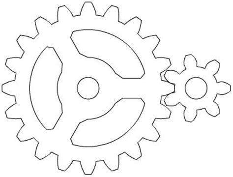 printable gear stencils gear templets jay s robot party pinterest