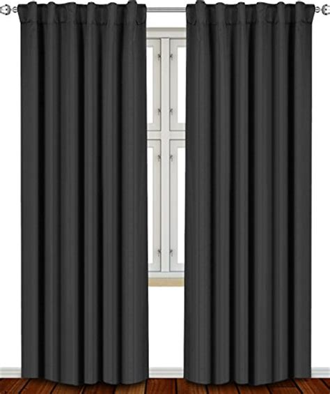 two color curtain panels blackout room darkening curtains window panel drapes