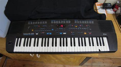 Keyboard Roland E40 piano organ roland e 38 intelligent keyboard was sold