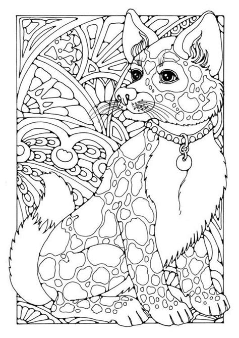 coloring pages for adults dogs coloring page dog adult colouring therapy pinterest
