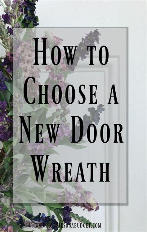 choose   door wreath home improvement home