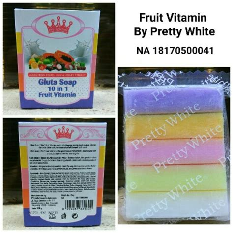Fruitamin Bpom Gluta Soap 10in1 Fruit Vitamin By Prett Murah gluta soap 10 in 1 fruit vitamin sabun pelangi bpom
