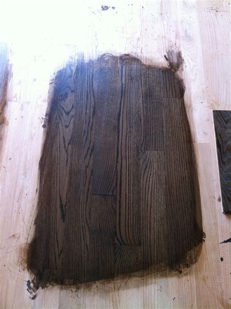 Dura Seal Example, Coffee Brown, 1 coat of water based