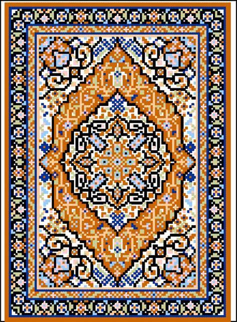 cross stitch rug tabriz medallion miniature rug chart on linked web page cross stitch rug