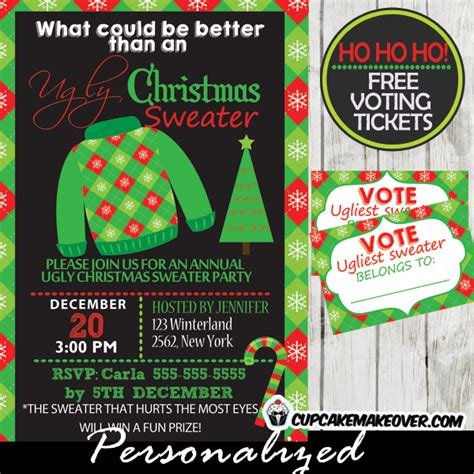 free printable ugly sweater voting ballots printable ballots for ugly christmas sweater party just