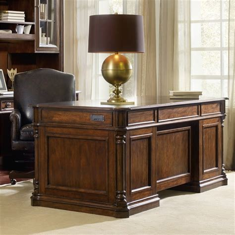 Mahogany Home Office Furniture Furniture Leesburg Executive Desk In Mahogany 5381 10562
