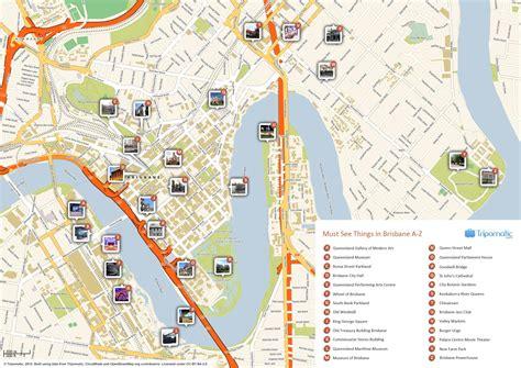 Printable Map Brisbane Cbd | brisbane cbd map map of brisbane cbd australia