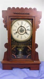 antique new clock company shelf mantle mantel