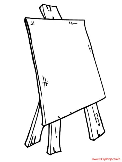 art easel coloring page art easel gallery clipart clipart suggest
