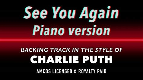 charlie puth see you again mp3 see you again piano version charlie puth midi mp3