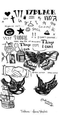 Las 40 mejores imágenes de Harry Style's Tattoos | Harry