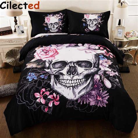 skull bedding king size cilected 3d skull bedding set cotton blend duvet cover set