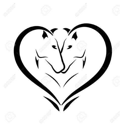heartbeat horse head tattoo horse head heart clipart