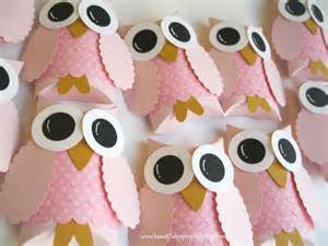 Owl Centerpieces Pretty In Pink Owl Favor Boxes Baby Shower Decorations Owl