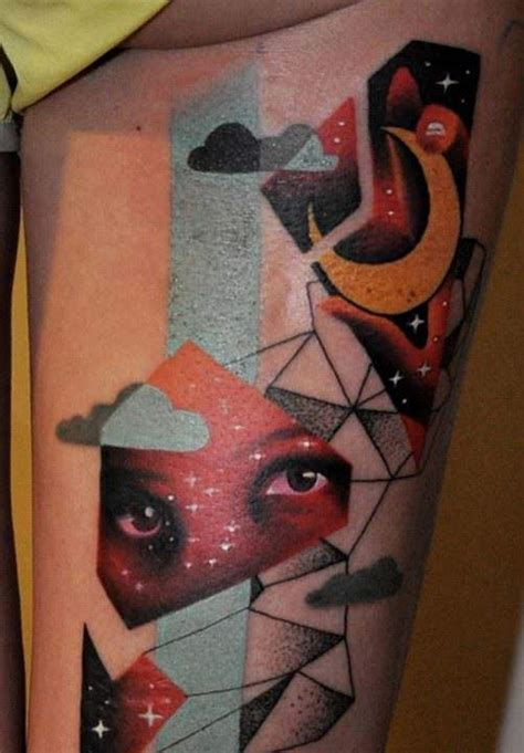 abstract art tattoo marcin surowiec combines abstract photo realism and