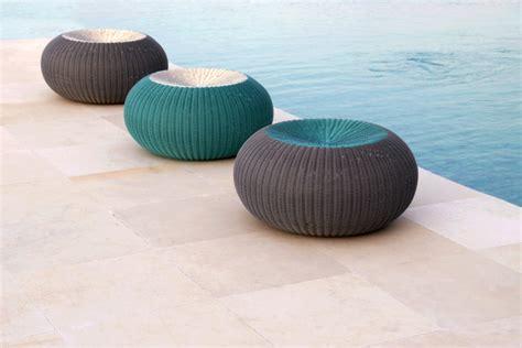 Spinball Modern Round Outdoor Ottoman Modern