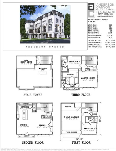 Town House Plan by Townhome Floor Plans Houston House Plan 2017